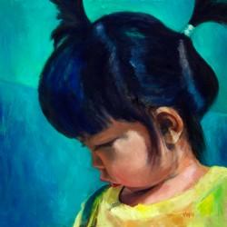 Een portret van een chinees meisje