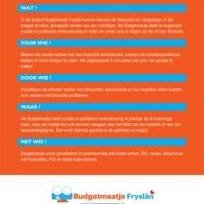 Budgetmaatje Fryslân: Flyer A5 - achterkant