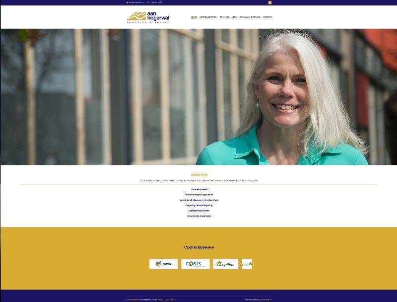 Website Aan Hogerwal door Studio Protter